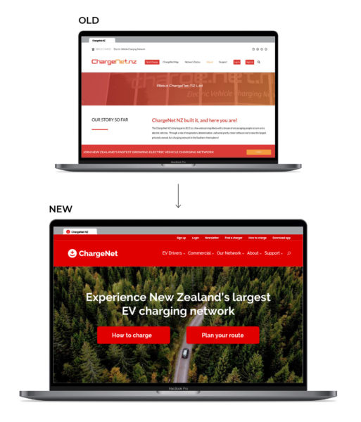 ChargeNet_website design