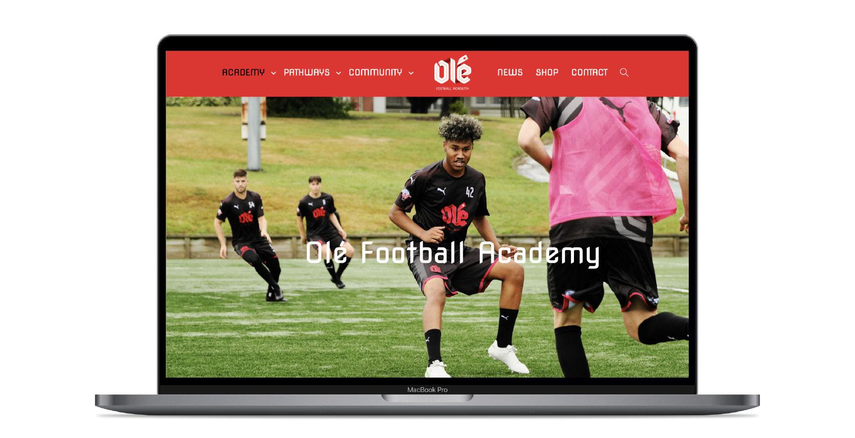 Ole FA_Website Design_Home